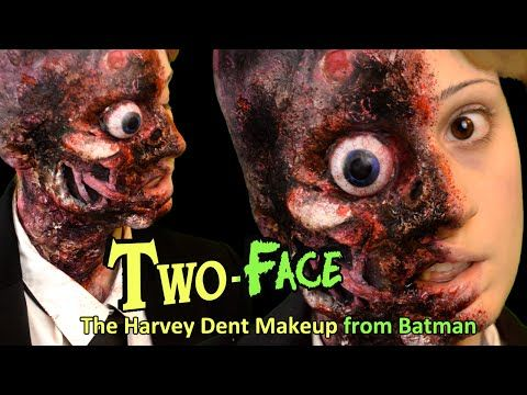 FX Maquillaje Dos Caras (Batman) / Two-Face or Harvey Dent - Halloween Makeup - YouTube