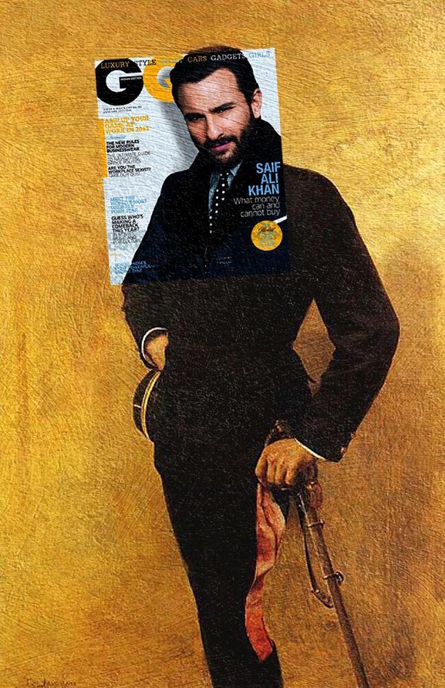 Des couvertures de magazines sur des peintures classiques Photo