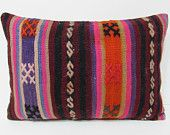 kilim pillow online 16x24 red decorative pillow orange throw pillow boho chic tapestry floor pillow cover moroccan style floor cushion 28667