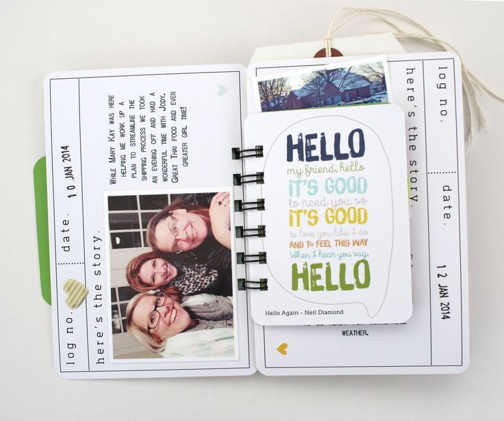 Today Mini, by Christine Drumheller using the Hello Again collection from www.cocoadaisy.com #cocoadaisy #scrapbooking #kitclub #DITL #minibook