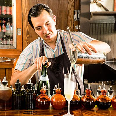 Atlanta Bars: Kimball House | In a converted Decatur train depot that's gotten a makeover, Miles Macquarrie leads a team of ace bartenders blending some of the South's savviest cocktails.