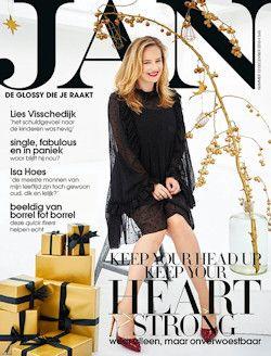 6x JAN € 35,-: Het tijdschrift JAN is dé no-nonsense glossy voor vrouwen vanaf 30 die een superdruk, overvol en soms ingewikkeld, maar fantastisch bestaan leiden.