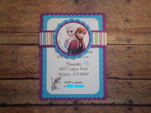 Frozen Birthday Invitations, Disney Frozen Invitations | Timberlysdesigns - Seasonal on ArtFire