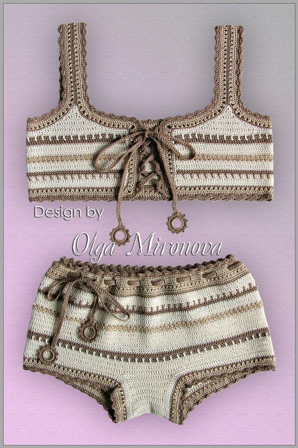"#crochet Swimsuit ""Sandy Beach"""