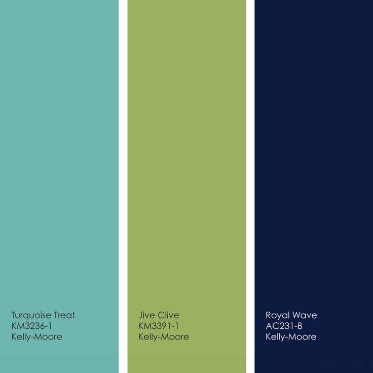 Winter Blue Color Palette: Pretty Turquoise/lime/navy Palette