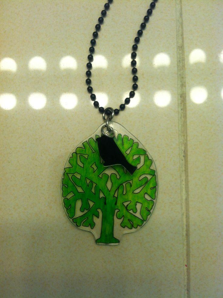 Shrinky dinks necklace