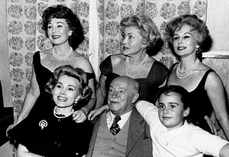 "Remembering honoring Francesca Hilton on Tributes.com. ""This is a photo of the Gabor family posing in Vienna, Austria on Oct. 29, 1958. From left are: Zsa Zsa, Papa Vilmos Gabor, Francesca Hilton, Zsa Zsa's daughter. Standing behind are: Magda, Mama Jolie and Eva. (AP Photo)"""
