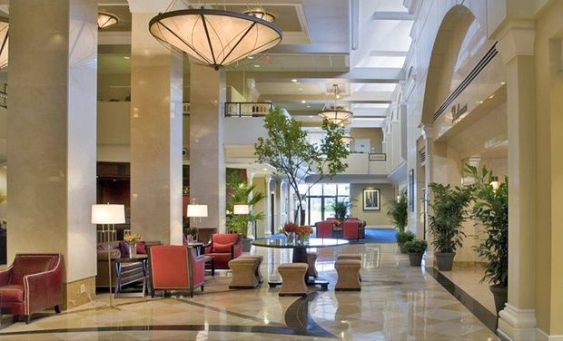 Dog-friendly Sheraton with indoor rooftop pool and onsite restaurant near Washington, DC, and Arlington National Cemetery