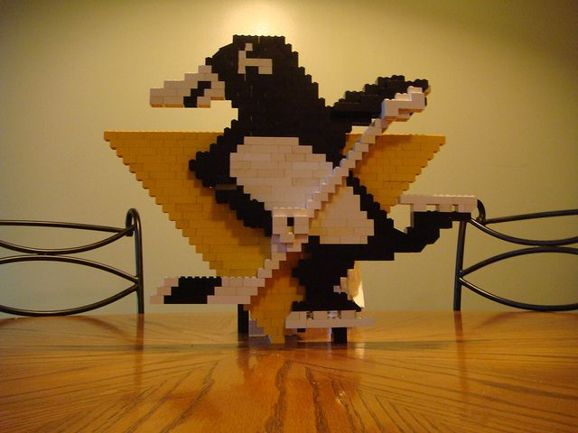 Pittsburgh Penguins logo in LEGO© bricks | Flickr - Photo Sharing!