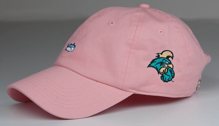 Express your love for the coast and Coastal Carolina University in this pink CCU Southern Tide Hat!