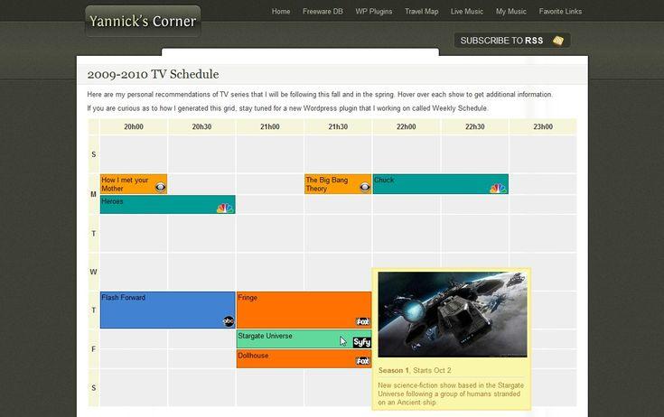 weekly-schedule screenshot 1