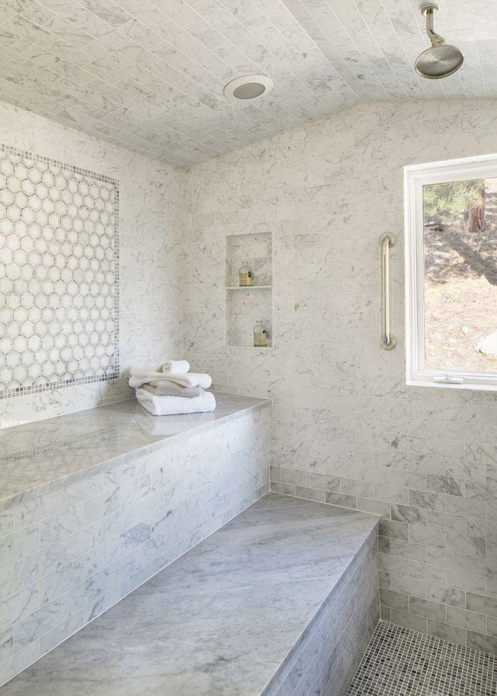 marble steam shower