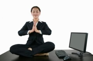 """""""Lunch-break-asana"""" at the Dova Center. Join us every M, T, TH, and F for lunchtime yoga! #blog #yoga #dova http://dovacenter.com/lunch-break-asana/"""
