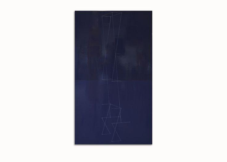 Kate Shepherd - PURPLE AFRICAN, (KS12P47) - 2012 - Oil and Enamel on Wood Panel, 116.8 x 66 cm