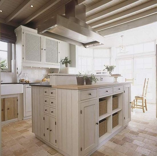 French Styled #greige #kitchen With A Beautiful #fireclay Sink