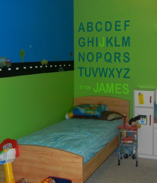Alphabet Name - from www.beautifulwalldecals.com This design is perfect for any budding child learning their letters, or simply becoming familiar with their names!