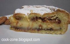 Torta di crema pasticcera con amaretti in vista da CoOk ZoNe su Akkiapparicette