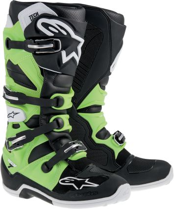 Alpinestars Tech 7 MX Boots Motocross High Performance C.E. Rated ...