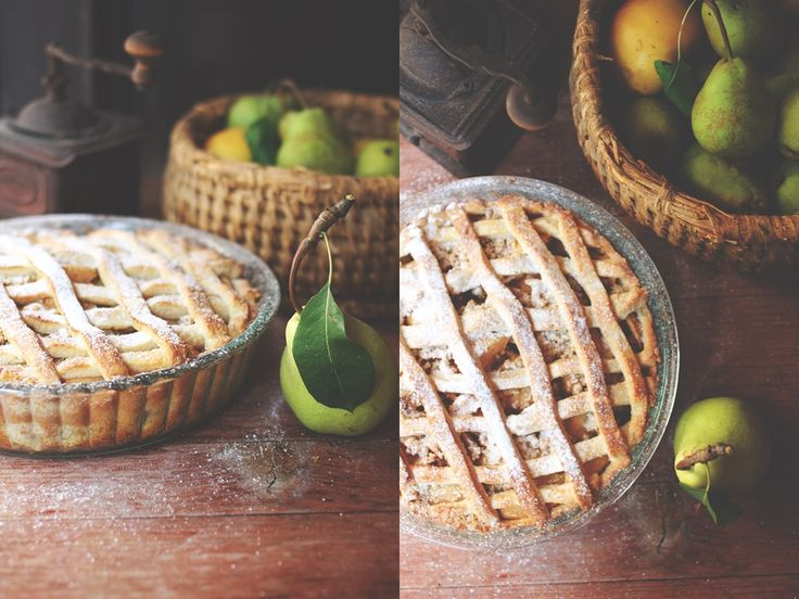 rustic home made pie
