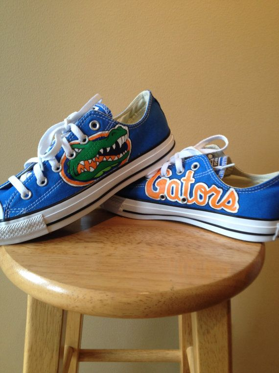 Florida Gators Converse Hand Painted by ChromeReflections on Etsy