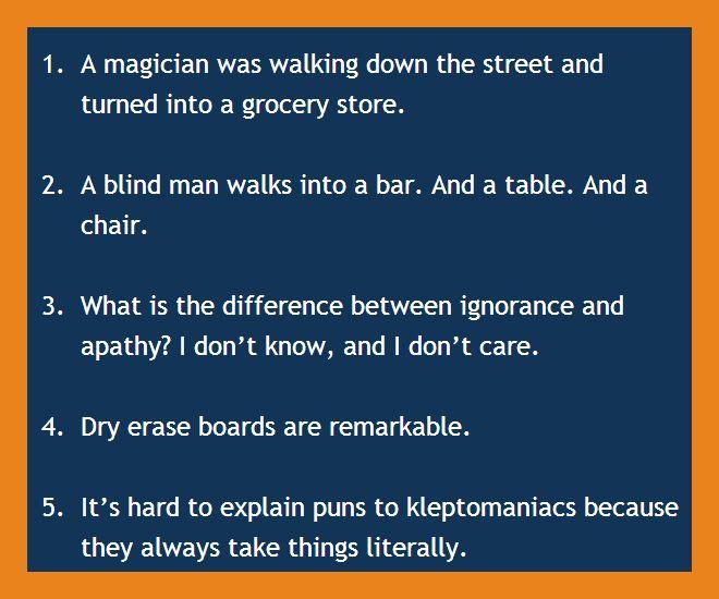Bar jokes - Really Short Funny Jokes