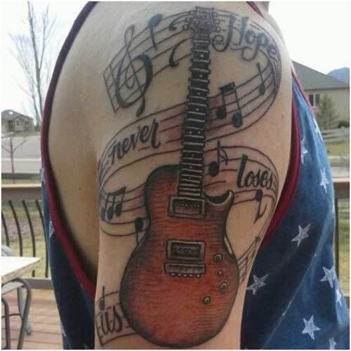 Musical-Gitarre Tattoo