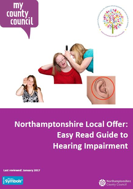 This easy read guide explains what a hearing impairment is and what might happen if you have one.