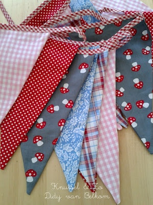 Fabric flags...want to do these myself!