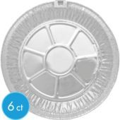 No dishes to clean!  Perfect for a fish fry! Deep Dish Aluminum Pie Pans - Party City