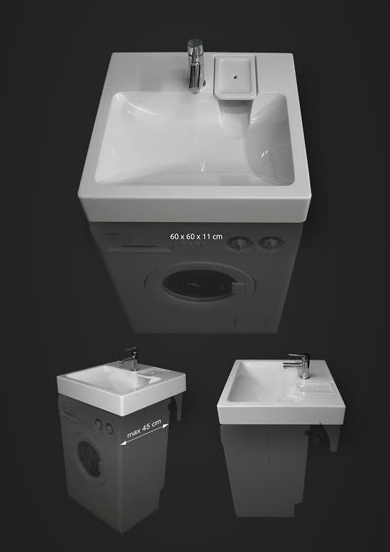Lavabo gain de place pour machine laver decora o pinterest places - Machine a laver gain de place ...