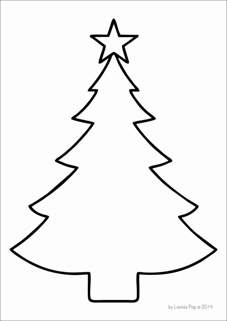 FREE Christmas tree template