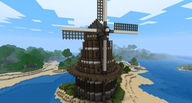 Minecraft building ideas: Windmill Blaise wanted me to pin this for him.