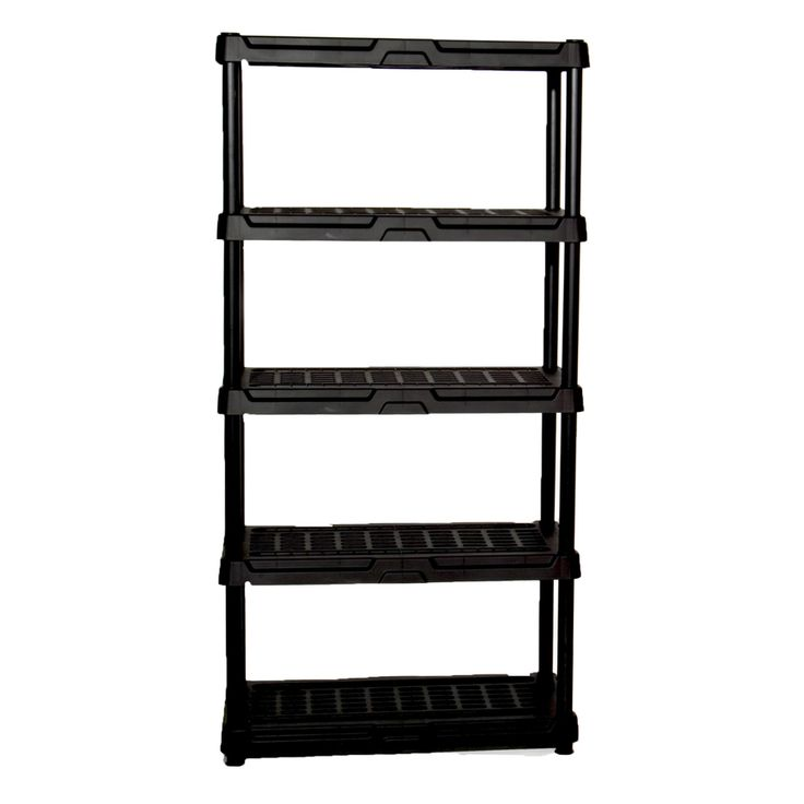 Blue Hawk 72-in H x 36-in W x 24-in D 5-Tier Plastic Freestanding Shelving Unit