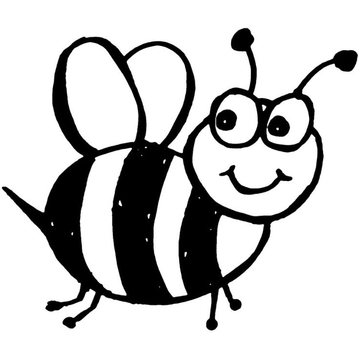 Cute Bee Coloring Pages