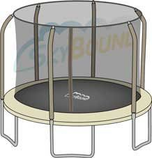 Replacement Net for 14ft Trampoline Enclosure using 6 Angled-Poles and Sleeves (Enclosure Poles Not Included) - http://www.exercisejoy.com/replacement-net-for-14ft-trampoline-enclosure-using-6-angled-poles-and-sleeves-enclosure-poles-not-included/fitness/