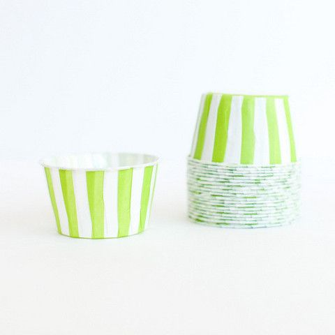 Lime Green Stripe Candy Cups | The TomKat Studio Shop