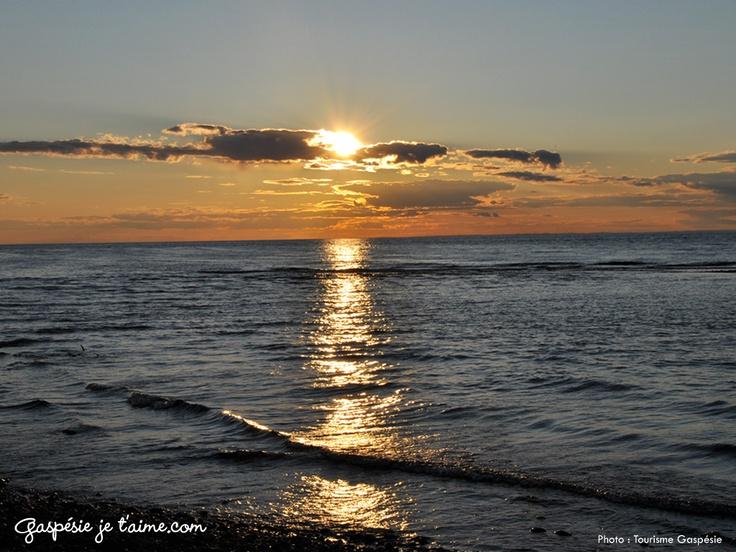 Sunset, Sainte-Anne-des-Monts, photo Tourisme Gaspésie