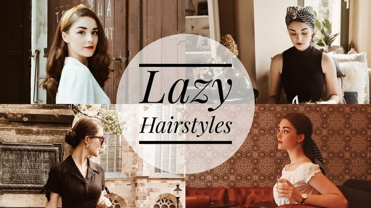 4 Easy & Vintage Inspired Hairstyles for Lazy Days