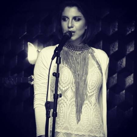 Fb Alexis Mercedes wearing the Maasai Chain Necklace and Frida Collar at the launch of her new album