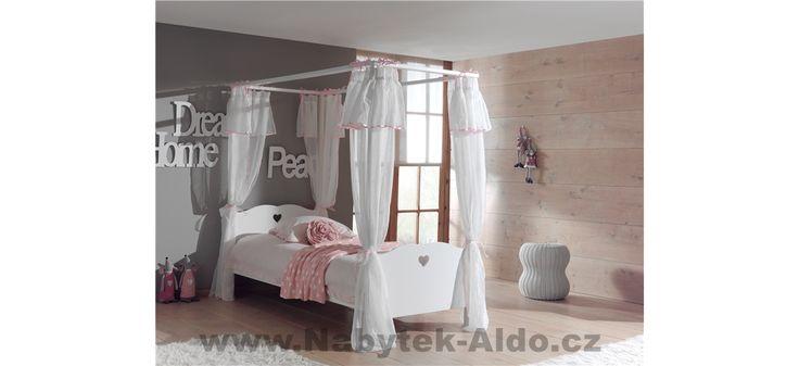 Dětská postel s nebesy Amori AMKB9014