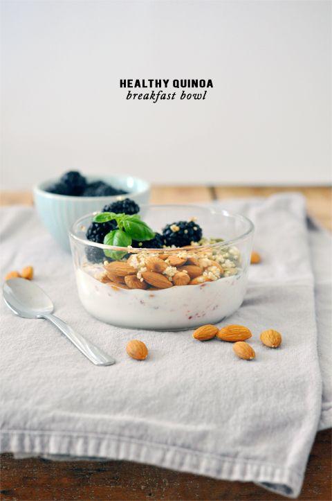 Healthy quinoa breakfast bowl