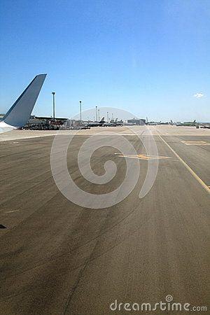 Runway of the airport of Palma de Mallorca. Mallorca, Spain