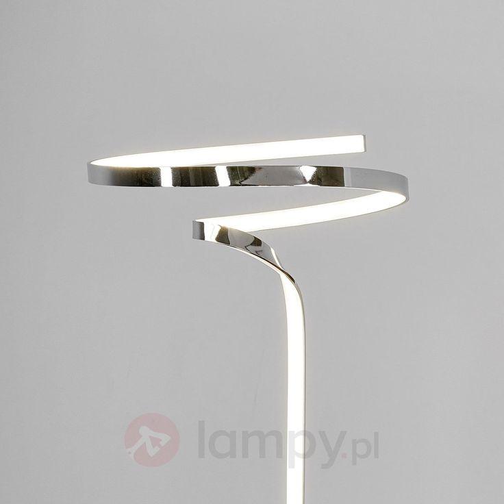Wspaniała chromowana lampa stojąca Finian z LED 9985015
