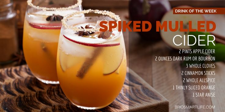 5 Great Fireside Cocktails That We Love - Spiked Mulled Cider