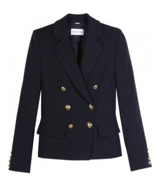 Emilio Pucci Double Breasted blazer first noted on 3.16.12 for visit to Team GB at Olympic Park.