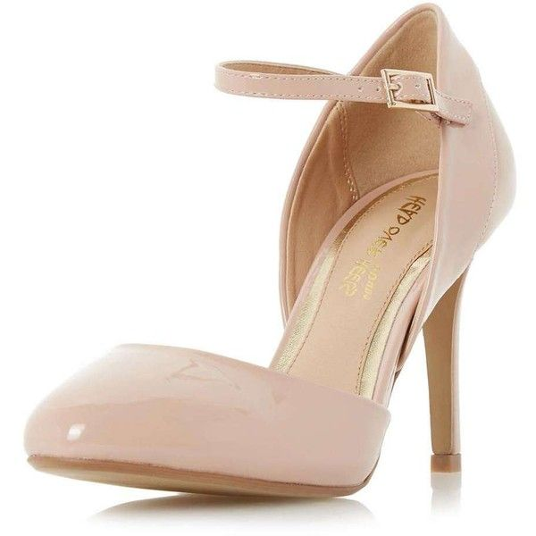 Dorothy Perkins **Head Over Heels Corrina Nude Court Shoes ($75) ❤ liked on Polyvore featuring shoes, pumps, cream, dorothy perkins, polyurethane shoes, rounded toe pumps, nude court shoes and cream shoes