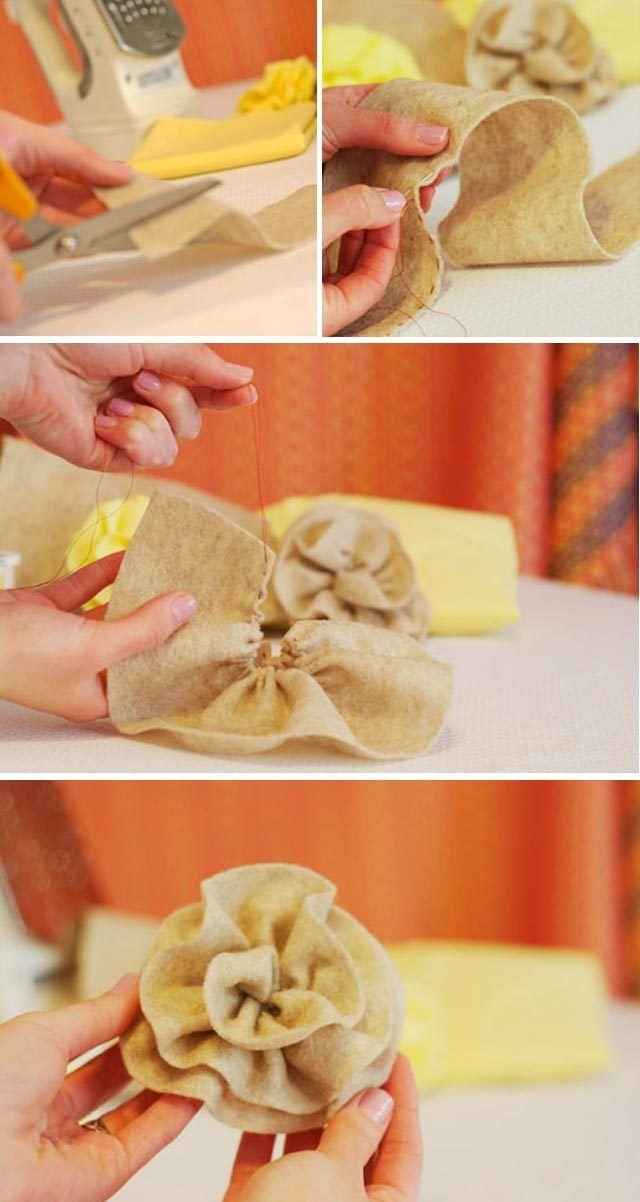 3 Easy Diy Storage Ideas For Small Kitchen: DIY: Easy Fabric Flowers