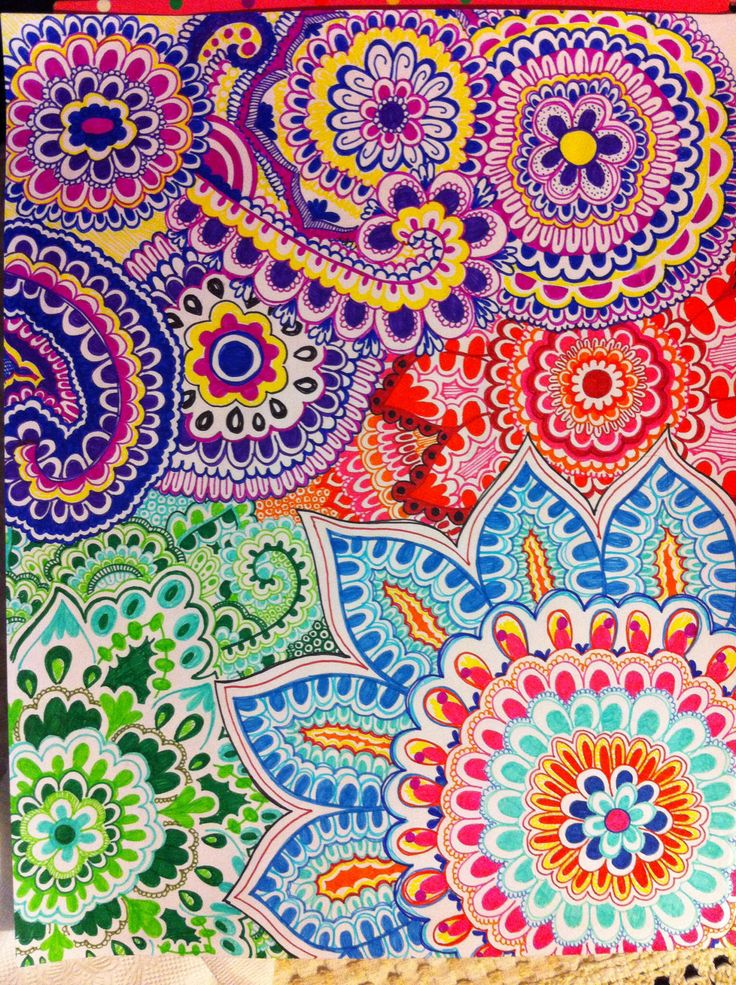 Made By Me ️ Mandala Doodle Drawing Art Flowers