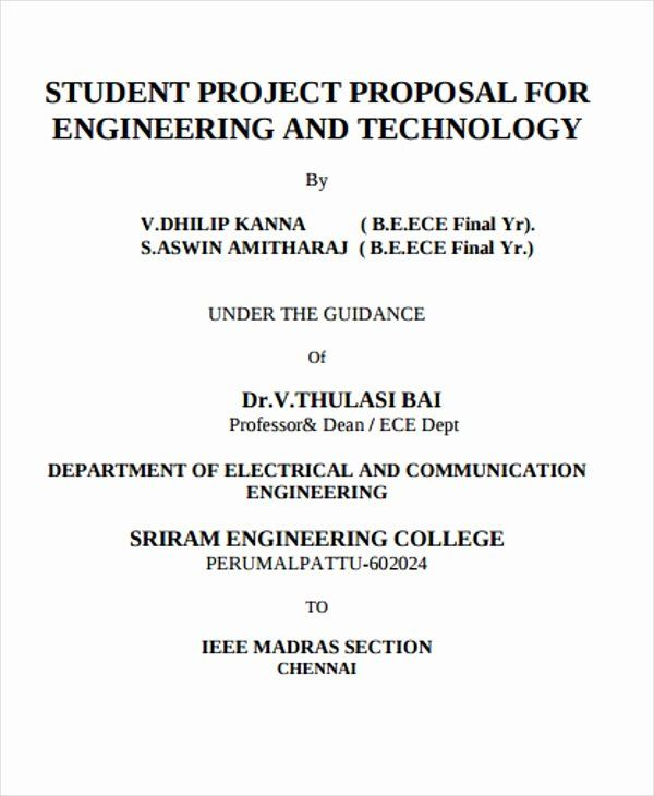25 Student Project Proposal Example In 2020