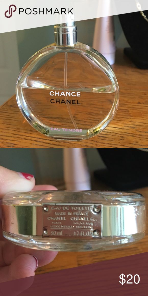 1/2 filled Chance Chanel perfume why pay full price for Chanel? Half gone, half full!!! Other